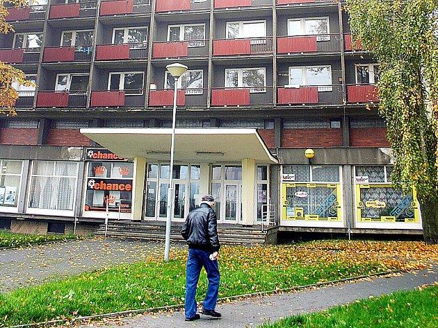 Ubytovna v centru Litvínova.