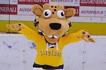 Litvínovský maskot Vervák je nedílnou součástí domácích zápasů Vervy.