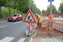 Úprava prostranství u křižovatky ulic Jana Kubelíka a Josefa Suka v Mostě