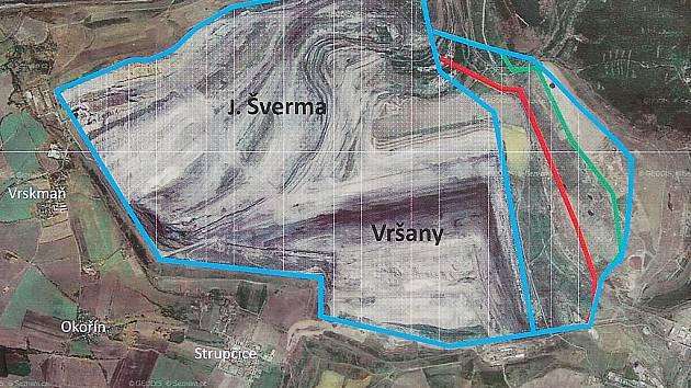 Schválený plán rozšíření těžby uhlí v dole Vršany u Mostu.