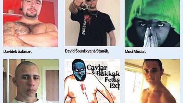 Lidé přihlášení k pondělním nepokojům v Mostě. Jde o profilové fotografie účastníků z Facebooku.