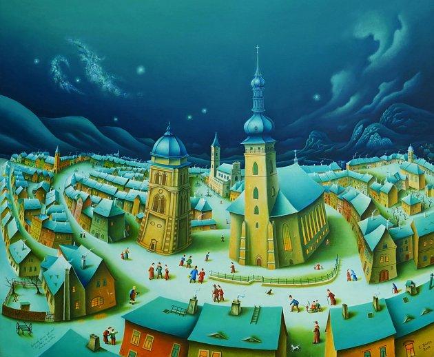 Most má nové umělecké pohlednice vzniklé podle obrazů Eduarda Bárty