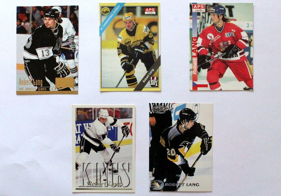 Sportovní kartičky se vrací. Vyráběly se, stále vyrábí a sbírají i u nás. Robert Lang na kartičkách.