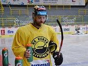 Hokejisté na ledové ploše Zimního stadionu Ivana Hlinky v Litvínově. Mají přípravu před novou sezonou.