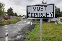 Čepirohy, tudy má vést cyklostezka směrem na Havraň.