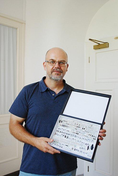 Pavel Krásenský, kurátor entomologické sbírky v Oblastním muzeu a galerii v Mostě.
