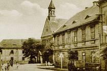 Dobová pohlednice Souše, tehdy Tschaush bei Brüx.