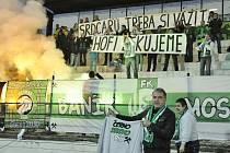 Trenér Stanislav Hofmann a jeho rozlučka s fanoušky Baníku Most.