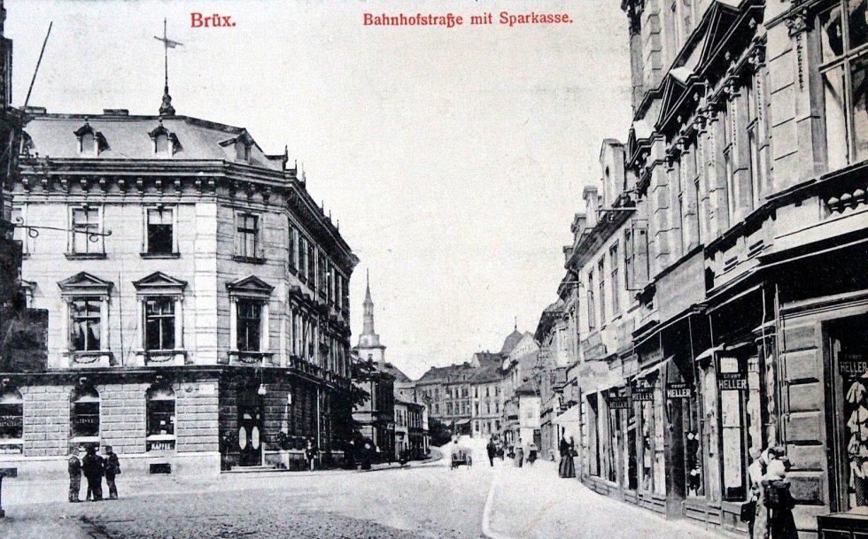 Výpravy do historie: královské město Most. Nádražní ulice.