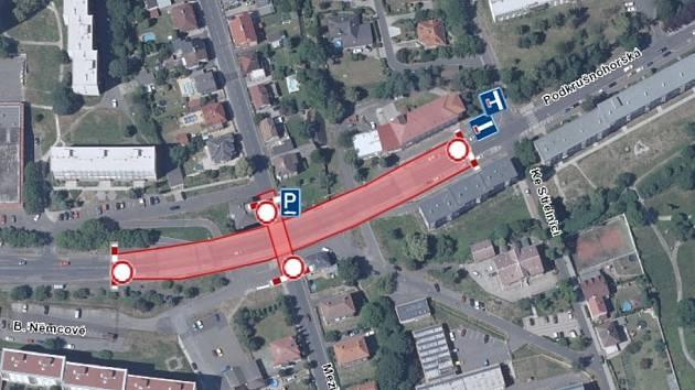 Změny v dopravě poté, co se 29. ledna 2021 zavře v ulici Podkrušnohorská v Litvínově silniční most