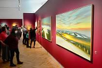 Vernisáž výstavy obrazů Pictura Obscura malíře Jaroslava Valečky v Oblastním muzeu a galerii v Mostě