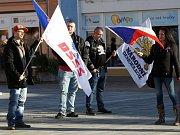 Mítink Dělnické strany sociální spravedlnosti v Litvínově