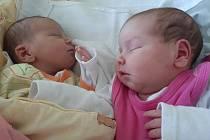 Sofie a Šarlota Čermákovy se narodily mamince Martině Čermákové z Litvínova 12. května. Sofie ve 20.18 hodin, měřila 47 cm a vážila 2,57 kg. Šarlota ve 20.19, měřila 51 cm a vážila 3,68 kg.
