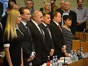 Ustavující zasedání zastupitelů v Mostě. 20. listopadu 2018