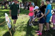Děti obsadily hornický skanzen