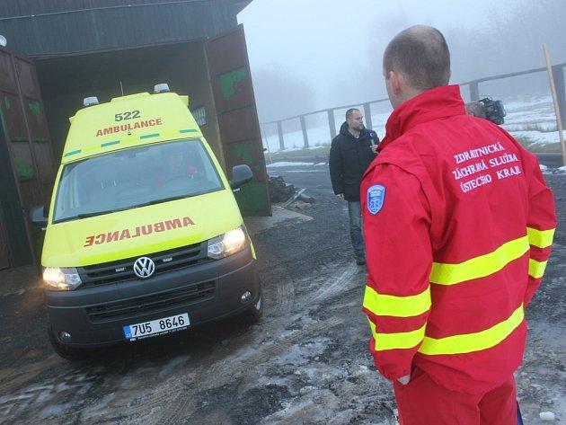 Jedna z nejmodernějších záchranek včera dopoledne vyjela z nového stanoviště na Klínech hned třikrát.
