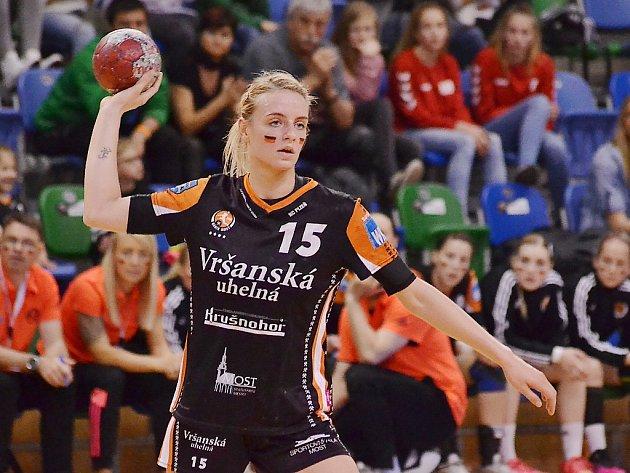 Mostecká házenkářka a česká reprezentantka Markéta Jeřábková.