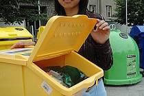 Lucie Hoová ze Scholy Humanitas vysvětlovala, jak správně třídit odpad.