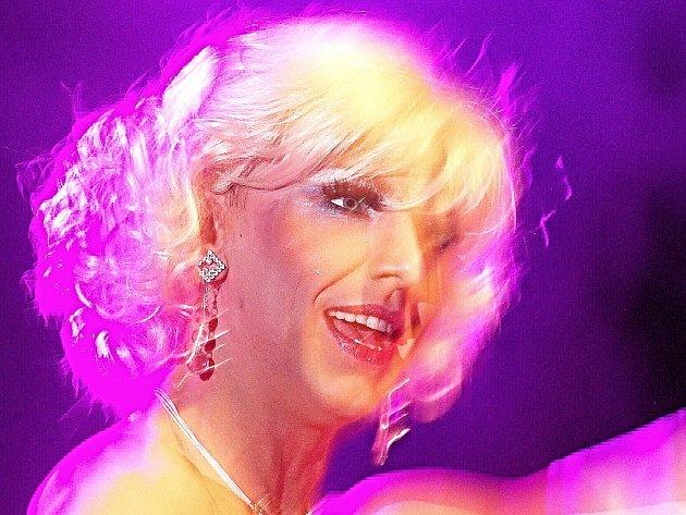 Slečna Roberta, hlavní hvězda mostecké Travesti Roberta Show 2015.