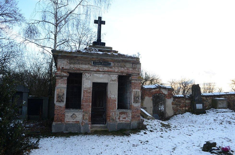 Hřbitov u Kostela svatého Vavřince v Havrani, památkově chráněná hrobka rodiny Fischerů.