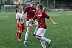 Fotbalistky Souše a Ervěnic/Jirkova na hřišti druhého Švermova, který porazily 5:1.
