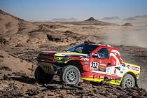 "Martin Prokop s Viktorem Chytkou a speciálem Ford Raptor ""Shrek"" v barvách Benzina ORLEN Teamu na legendární Rallye Dakar."