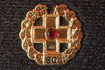 Zlatý kříž za 80 odběrů krve.