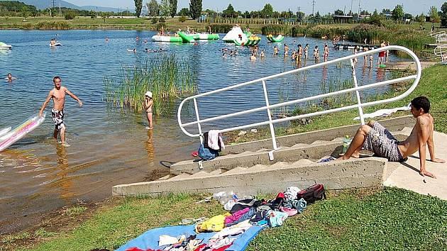 Jezero Matylda v Mostě.