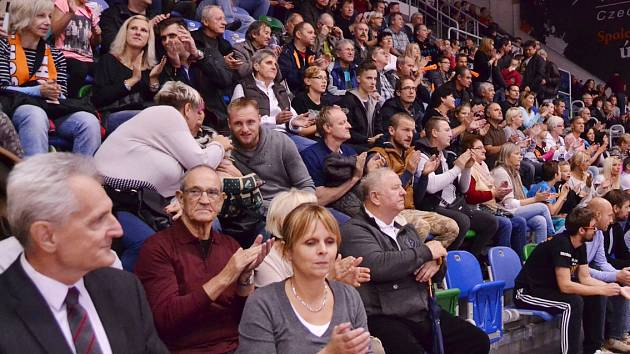 Publikum ve sportovní hale při házené.