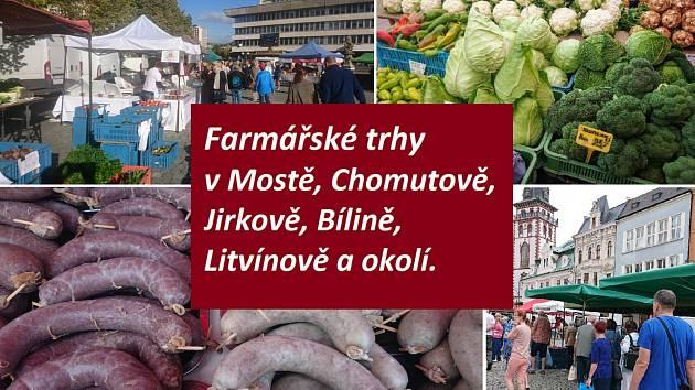 Farmářské trhy konečně zase v Mostě, Chomutově nebo Jirkově.