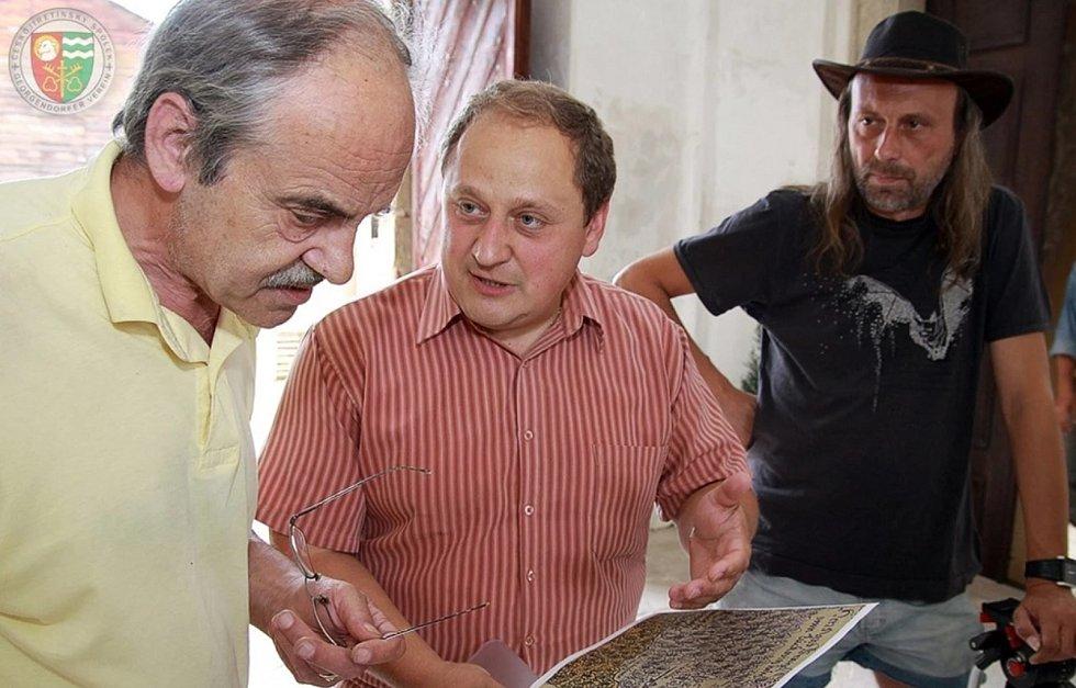 Snímek z činnosti Českojiřetínského spolku, Petr Fišer (uprostřed)