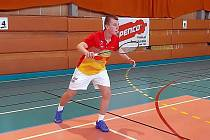 Badmintonista Super Stars Most Tomáš Pospíšil.