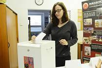 Studentské volby v Soukromé hotelové škole Bukaschool v Mostě.