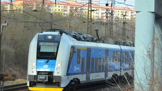 Vlak Most - Děčín.