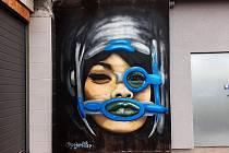 Graffiti v Mostě.