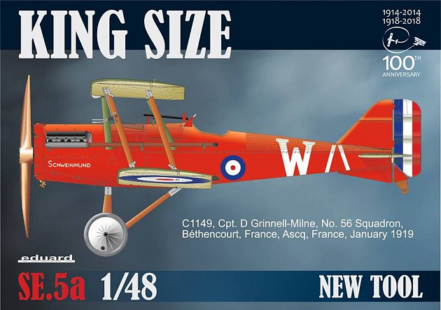 Obrnický výrobce modelů Eduard Model Accessories na veletrhu vNorimberku představil novinku, model britského dvouplošníku SE5a zobdobí I. světové války, vměřítku 1:48.