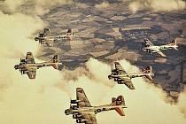 Spojenecké bombardéry.