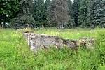 Přehrada Fláje a pozůstatky zaniklé obce