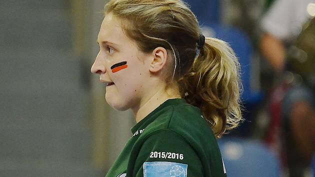 Brankářka Černých andělů Dominika Müllnerová.