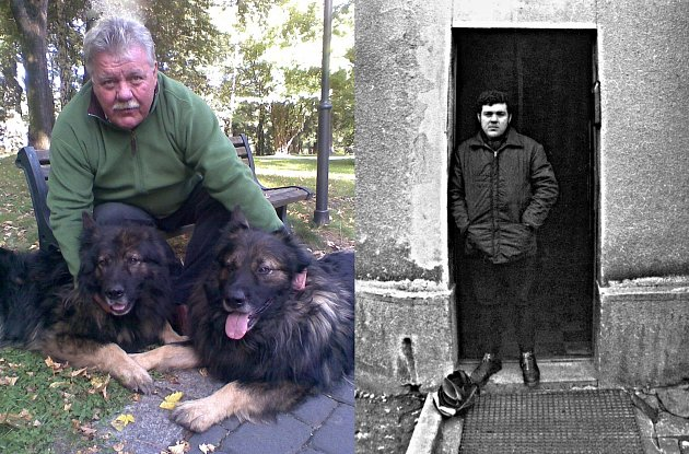 Josef Lanc, vpravo jako mladý fotograf