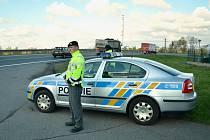 Policejní dopravně bezpečnostní akce Speed marathon na Mostecku