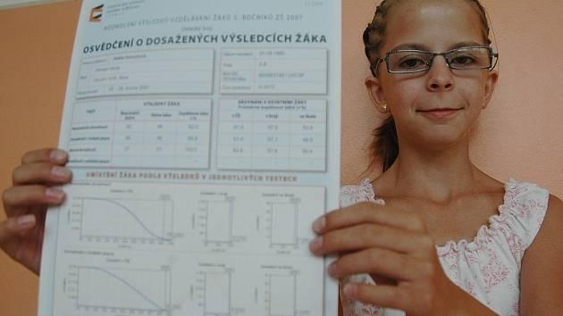 Jedenáctiletá Adéla Homolová.