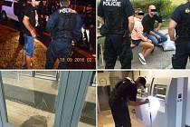 Zásahy městské policie.