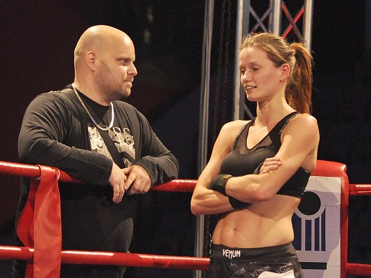 Kateřina Netolická s Adrianem Smrčkou při říjnovém republikovém šampionátu.