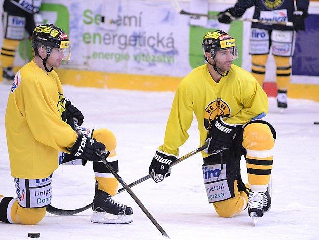 Litvínovští hokejisté v první den přípravy před play off.