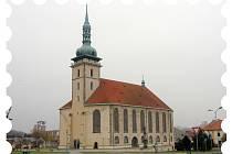 Po Flájích a horské dráze Most Moldava by se na známce mohl objevit přesunutý kostel.