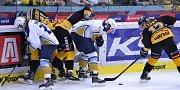 Utkání Litvínova (ve žlutém) proti Kladnu