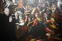 Obraz z 16. století zachycuje bitvu husitů u Mostu v roce 1421 (výřez)