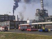 Požár na propylenové jednotce v Litvínově.