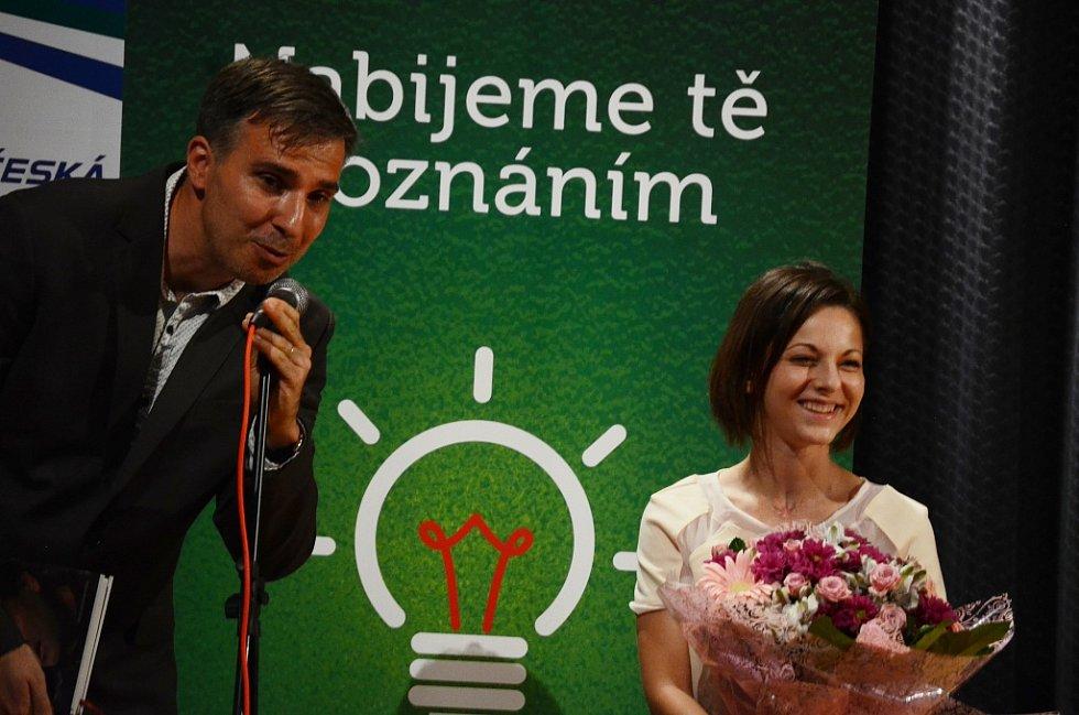Vilém Kunz a Terezá Bártová před besedou s houslistou Ashhabem